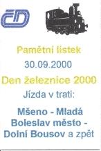 Den železnice 2000